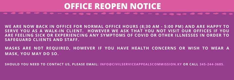 Office Reopen Notice